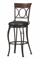 Circles Back Counter Stool - Linon Furniture - 02730MTL-01-KD-U