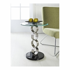 Circles Metal and Glass Table - Powell Furniture - POWELL-989-353