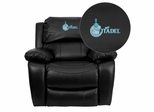 Citadel Bulldogs Embroidered Black Leather Rocker Recliner  - MEN-DA3439-91-BK-40001-EMB-GG