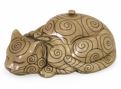 CK Decorative Cat Lidded Box - IMAX - 19061