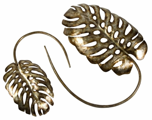 CK Gilded Split Philo Leaf Accents (Set of 2) - IMAX - 12606-2