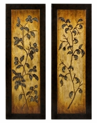 CK Heritage Foliage Motif Wall Panels (Set of 2) - IMAX - 11339-2