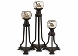 CK Jupiter Glass Tri Leg Candleholders (Set of 3) - IMAX - 12720-3