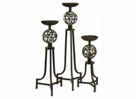 CK Mesh Metal Sphere Candlesticks (Set of 3) - IMAX - 12586-3