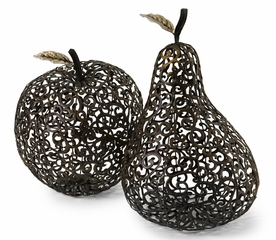 CK Oversized Silver Leaf Apple and Pear (Set of 2) - IMAX - 56227-2