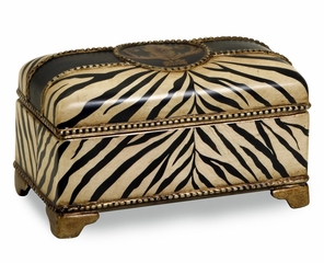 CK Zebra Ceramic Box - IMAX - 19017