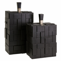 CKI Lopez Decorative Boxes (Set of 2) - IMAX - 47201-2