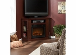 Claremont Convertible Media Cherry Electric Fireplace - Holly and Martin
