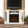 Claremont Convertible Media Ivory Electric Fireplace - Holly and Martin