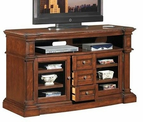 Claremont Media Console in Empire Cherry - Classic Flame - TC60-760-C232