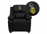 Clarkson University Golden Knights Leather Kids Recliner - BT-7985-KID-BK-LEA-41019-EMB-GG