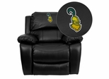 Clarkson University Golden Knights Leather Rocker Recliner  - MEN-DA3439-91-BK-41019-EMB-GG