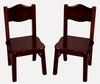 Classic Espresso Extra Chairs (Set of 2) - Guidecraft - G86203