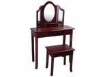 Classic Espresso Vanity and Stool - Guidecraft - G86210