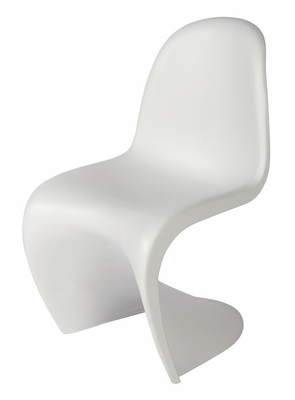 Classic Panton 'S' Chair in White - LC-005