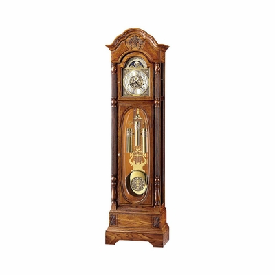 Clayton Grandfather Clock in Oak Yorkshire - Howard Miller