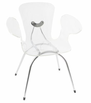 Clear Acrylic Cradle Chair - LumiSource - CHR-TW-CRADLE-C
