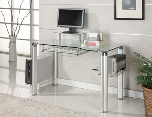 Clear Glass Computer Desk - Innovex - DP1065
