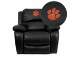 Clemson University Tigers Leather Rocker Recliner - MEN-DA3439-91-BK-40006-EMB-GG
