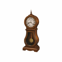 Cleo Chestnut Mantel Clock - Howard Miller