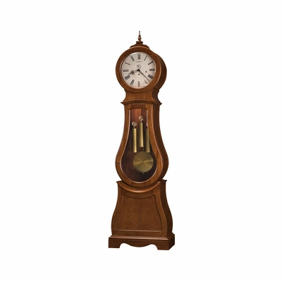 Cleo Grandfather Clock in Distressed Chestnut - Howard Miller
