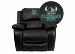 Cleveland State University Vikings Leather Rocker Recliner - MEN-DA3439-91-BK-41021-EMB-GG