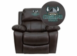 Cleveland State University Vikings Leather Rocker Recliner - MEN-DA3439-91-BRN-41021-EMB-GG