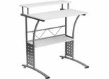 Clifton White Computer Desk  - NAN-CLIFTON-WH-GG