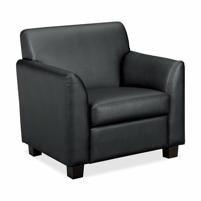 Club Chair - Black Leather - BSXVL871ST11