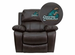Coastal Carolina University Chanticleers Leather Rocker Recliner - MEN-DA3439-91-BRN-45007-EMB-GG