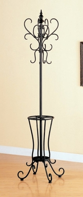 Coat Rack in Black Metal - Coaster