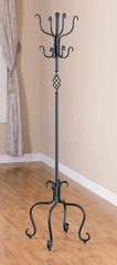 Coat Rack in Flat Black / Metal - Coaster