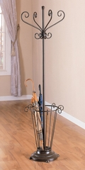 Coat Rack with Umbrella Stand in Bronze / Metal - Coaster