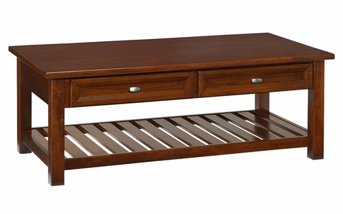 Cocktail Table with Shelf in Cherry - Hanover - 5532-21