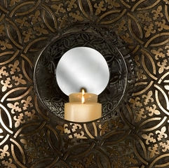 Cocobolo Mirrored Wall Sconce - IMAX - 12409