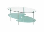 Coffee Table - 38 Inch Wave Oval Coffee Table - C38B4