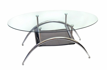 Coffee Table - 42 Inch Black Mesh Coffee Table - C42BM