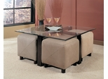 Coffee Table and Foot Stool Set - Coaster