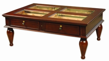 Coffee Table Humidor in Dark Mahogany - HUM-CTH-M