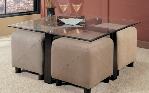 Coffee Table in Black / Glass Top - Coaster