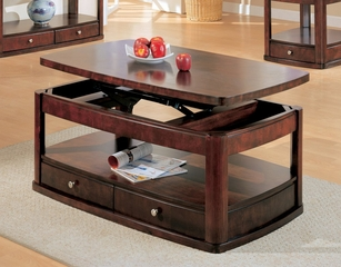 Coffee Table in Cherry / Brown - Coaster