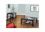 "Coffee Table Set - ""Gloss Black"" and ""Gloss Silver"" - Powell Furniture"