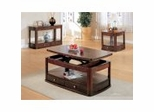 Coffee Table Set in Cherry / Brown - Coaster