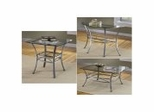 Coffee Table Set in Dark Pewter / Glass - Abbington - Hillsdale Furniture