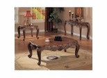 Coffee Table Set in Deep Brown - Coaster