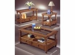 Coffee Table Set in Grayling Pine Finish - Wood Furniture