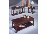 Coffee Table Set in Mahogany Finish