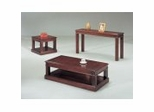 Coffee Table Set in Merlot Cherry
