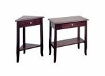 Coffee Table Set in Merlot Finish