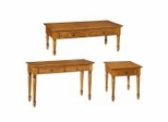 Coffee Table Set in Pine - Ponderosa